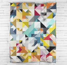 Jennifer Sampou Studio Stash Fabric & Braque Pattern Quilt Kit - None