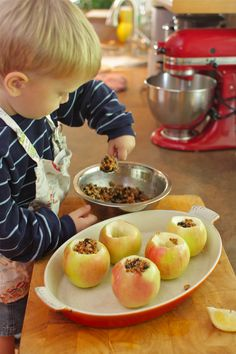 Cooking with Kids: Maple Pecan Baked Apples | Simple Bites