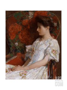 The Victorian Chair, 1906 Giclee Print by Childe Hassam at Art.com Victorian Chair, Victorian Era, Google Art Project, American Impressionism, Oil Painting Reproductions, American Artists, Art Google, Female Art, Art Museum