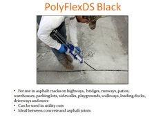 PolyFlexDS Black provides a black finish for cracked pavement repair.