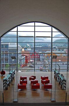 Library in Tromsø, Norway Tromso, Norway Sweden Finland, Lofoten, Beautiful Norway, Scandinavian Countries, Visit Norway, Norway Travel, Architecture, Beautiful Places