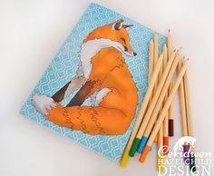 Red Fox Notebook by ceridwenDESIGN http://ift.tt/1qNt7Yx
