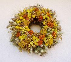 Věnec žlutý žluto/oranžový....věnec / od Vendula Strejcová   Fler.cz Wreaths, Fall, Home Decor, Autumn, Decoration Home, Door Wreaths, Fall Season, Room Decor, Deco Mesh Wreaths