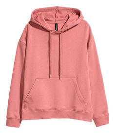 Soft sweatshirt with a drawstring hood, kangaroo pocket, ribbing at cuffs and hem, and slits at sides. Pullover Windbreaker, Pullover Hoodie, Hoodie Jacket, Sweater Hoodie, Hooded Sweatshirts, Hoodie Outfit, Cute Jackets, Jackets For Women, Sweat Vintage