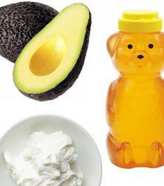 Avocado, Honey, and Yogurt Moisturizing Mask