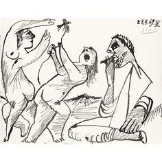 Femne À L'Oiseau - Pablo Picasso 1969