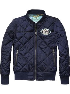 Quilted Bomber Jacket |Jackets|Boys Clothing at Scotch & Soda
