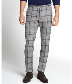 plaid dress pants for men - Pi Pants