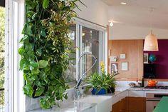 Quem disse que os jardins verticais podem ser feitos somente em áreas externas?