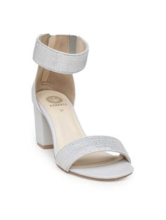 06de09096df Light Grey Sequined Block Heels