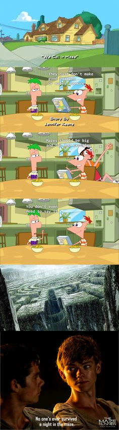 What makes it even better is that Thomas Brodie-Sangster (Newt) also voices Ferb.