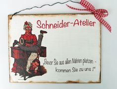 Namens- & Türschilder - Schneider Türschild - ein Designerstück von Un-Art-Tick bei DaWanda