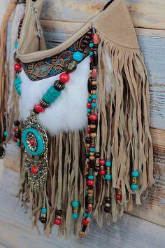 Gypsy bag boho purses bohemian purse fringe bag shoulder