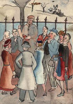 #Stanley #Lewis: #Speakers #Corner  Unmounted #Penandink, #watercolour #art #drawing #illustration #London #modernart #Britishart #llfa Watercolour Art, Speakers, Modern Art, Corner, London, Drawings, Illustration, Music Speakers, Illustrations