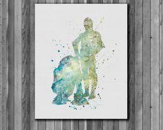 Star Wars Poster C-3PO and R2-D2   Art Print by digitalaquamarine