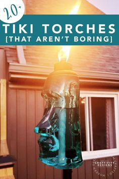 Need lighting or ambiance for your backyard? Add tiki torches to illuminate your deck, patio, or yard. Deck Tiki Torch Ideas | Tabletop Tiki Torches | Modern Tiki Torches | Tiki Torches for Deck