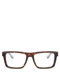 Saint Laurent Monogram rectangle-frame glasses