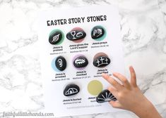 Learn how to make Easter Story Stones, a great way Holy Week activities to teach kids the Bible Easter stories along with our free printable sequencing page. Use this Bible craft to help children grow in their faith and understand the story of Jesus and the cross.