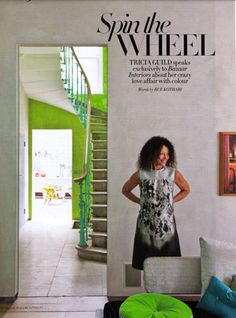 Tricia Guild featured in Harpers Dubai. Designers Guild Fabrics and wallpapers can be purchased through www.janehalldesign.com
