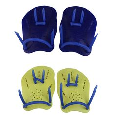 Blue Swimming Webbed Diving Gloves Finger Fin Paddle Diving  Hand Wear S/M/L  BHU2