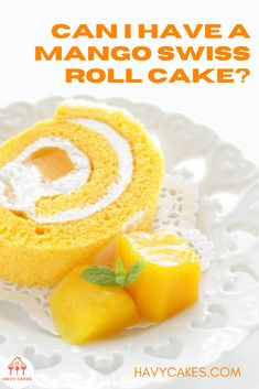 A Swiss roll is actually a sponge cake rolled with some type of filling like whipped cream, jam, fresh fruit, among others. In this post, I will bring you a mango creamy Swiss roll recipe to diverse your cake list. This recipe involves making a sponge cake, of course, then rolling it with whipped cream and chopped mango #MangoCreamySwissroll #mangocakerecipes #cakerecipes #havycakes Delicious Cake Recipes, Yummy Cakes, Sponge Cake Roll, Creamy Eggs, Mango Cake, Roll Recipe, Take The Cake, Food Shows, Baking Pans