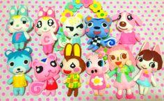 little felt mascots of your villagers!