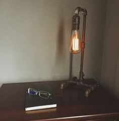 Edison bulb - Edison Lamp - Pipe Lamp - Steampunk Lamp