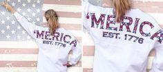 ✰ 'MERICA spirit football jersey ~ yes please!! ✰