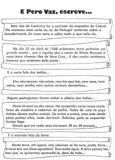 Notícias Ponto Com : HISTÓRIA DESCOBRIMENTO DO BRASIL ATIVIDADES E DESENHOS PARA IMPRIMIR
