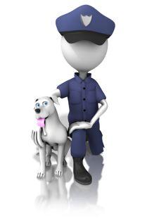 men police officer and dog 3d Figures, Stick Figures, Man Clipart, K9 Officer, 3d Icons, Emoji Images, 3d Man, Sculpture Lessons, Cute Emoji
