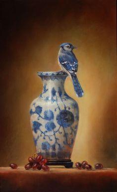 Lori McNee - Still Life in Blue & White