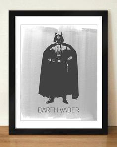 Digital Download Star Wars Darth Vader Standing by dotsonthewall
