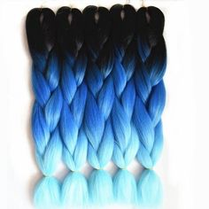 Cheap ombre blue, Buy Quality ombre gray directly from China braiding hair Suppliers: Ombre Blue Braiding Hair Synthetic Jumbo Braids Feilimei Three Toned Ombre gray green Crochet Hair Extensions Jumbo Crochet Braids, Jumbo Braiding Hair, Jumbo Braids, Crochet Hair Extensions, Braid In Hair Extensions, Crochet Straight Hair, Straight Hairstyles, Braided Hairstyles, Rainbow Braids