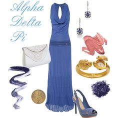 Alpha Delta Pi evening gown outfit created by Leslie Anne
