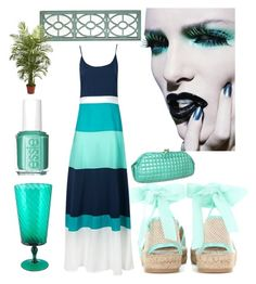 """""""Summer"""" by kotnourka ❤ liked on Polyvore featuring Oscar de la Renta, Rebecca Minkoff, Essie, Pier 1 Imports and Nearly Natural"""