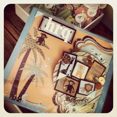 Safari Scrapbook Cover #babyboy