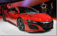 Cool red 2016 Honda NSX sports car wallpapers 1920x1200 (01)