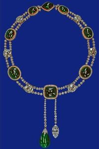 "The Delhi Durbar or ""Ladies of India"" necklace.  Great Britain."