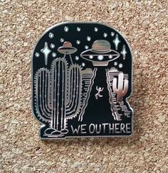 UFO Enamel Pin // daisyandaster