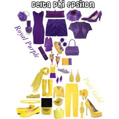 Delta Phi Epsilon Colors, created by deltagammacj on Polyvore