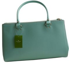 Kate Spade Nwt Martine - - Wkru1659 : Msrp $398 Fresh Air (Robins Egg Blue) Bag - Satchel $208