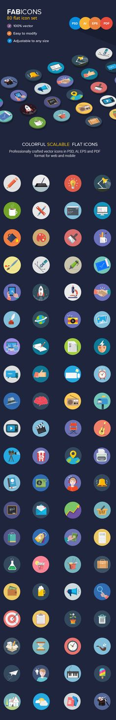 new flat icons #flaticons #iconset #webicons #iosicons #mobileui
