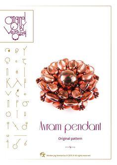 *P pendant tutorial / pattern Avram pendant with by beadsbyvezsuzsi