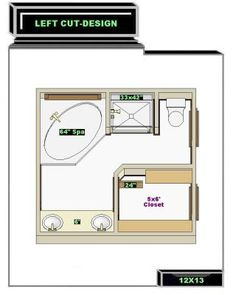 Design A 11x12 Bathroom Floor Plan | Master Bathroom Ideas Left Layout  12x13 New Master Bathroom