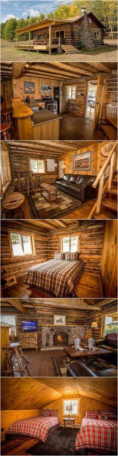Rustic Country Cabin Dream Come True – Rustic House Cabin House Plans, Tiny House Cabin, Small House Plans, Cabin Interior Design, Cabin Design, House Design, Log Cabin Living, Log Cabin Homes, Log Cabins