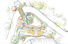 Kengo Kuma Designs Cultural Village for Portland Japanese Garden,Lower Garden Path. Image © Kengo Kuma & Associates