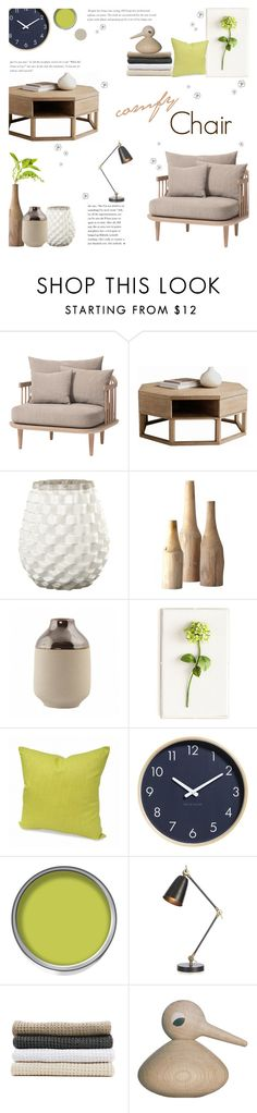 """Comfy Chair"" by c-silla on Polyvore featuring interior, interiors, interior design, home, home decor, interior decorating, &Tradition, Sunpan, Crate and Barrel and Tommy Mitchell"