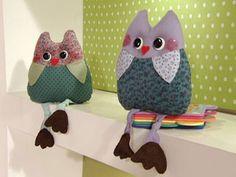 ARTE COM QUIANE - Paps,Moldes,E.V.A,Feltro,Costuras,Fofuchas 3D: PAP:Coruja de tecido