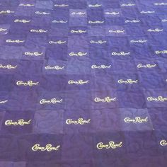 Crown Royal Quilt made for a customer's brother. Her dad passed away unexpectedly in June and this quilt is made from 1/2 his collection of bags. I am working on making an identical quilt for her other brother out of the other 1/2 now. #sweetmemories