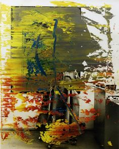 """The publication """"Why It Does Not Have To Be In Focus"""" (http://bit.ly/1HvdCHw) gives a short introduction to Gerhard Richter's Overpainted Photographs. See one of his earliest OPPs from 1986."""